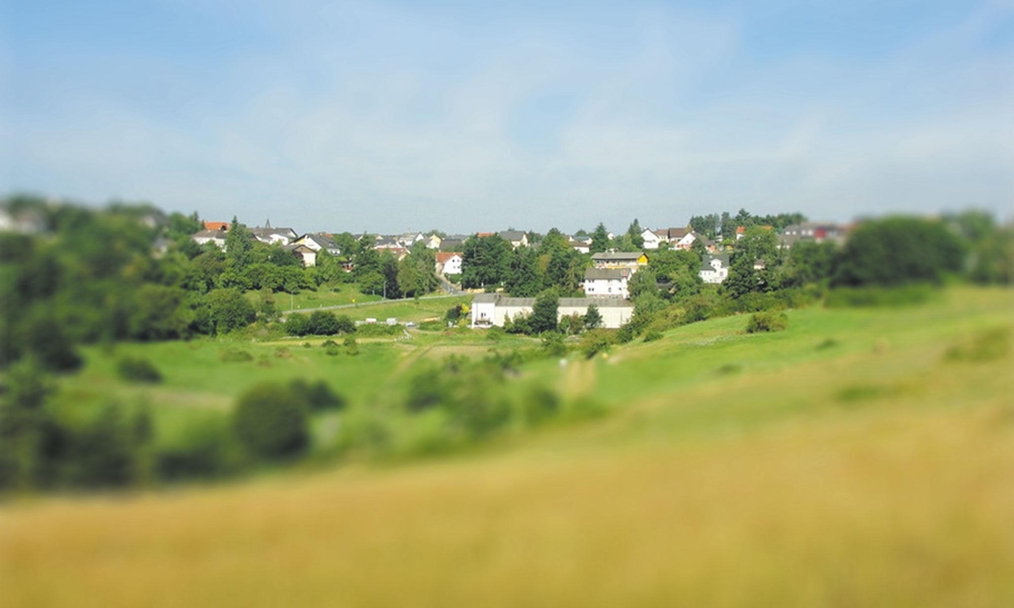 Aussicht auf die Ortschaft Heidenrod Dickschied